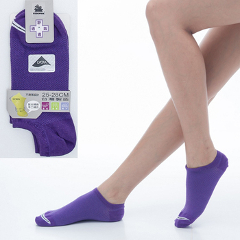 《【KEROPPA】可諾帕》舒適透氣減臭加大踝襪x紫色兩雙(男女適用)C98004-X(25~28CM(公分))