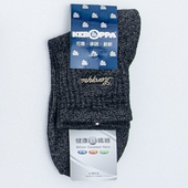 《【KEROPPA】可諾帕》銀纖維抗菌除臭厚底短襪(男女適用)C98003GS米灰黑(22-26CM(公分))