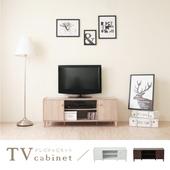 《hopma》和風原木系二門電視櫃(淺像木)
