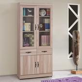 《Homelike》伊絲2.7尺中抽書櫃(原木色)