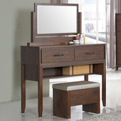 《Homelike》柏得化妝桌椅(胡桃色)