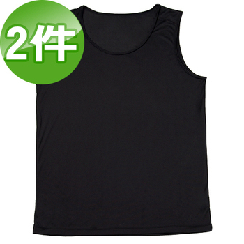 《台塑生醫》Dr's Formula冰晶玉科技涼感衣-男用背心款(黑)二件/組(L)