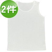 《台塑生醫》Dr's Formula冰晶玉科技涼感衣-男用背心款(白)二件/組(M)