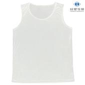 《台塑生醫》Dr's Formula冰晶玉科技涼感衣-男用背心款(白)一件入(M)