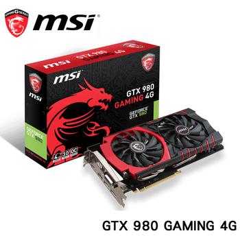 msi 微星 GTX 980 GAMING 4G顯示卡
