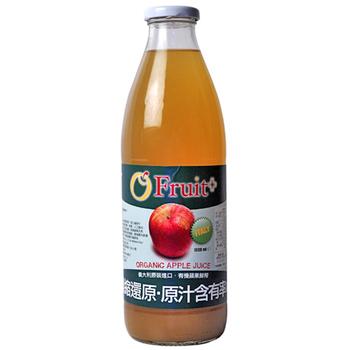 康健生機 義大利O'Fruit有機蘋果汁(1000ml/瓶)