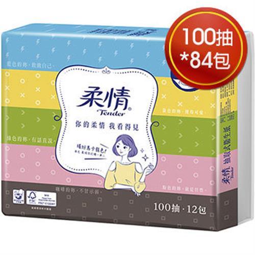 柔情 Line授權版抽取衛生紙式衛生紙100抽*12包(6串)