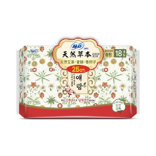蘇菲 天然草本超薄衛生棉25cm(18片/包)