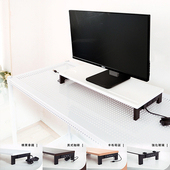 《dayneeds》(高機能 5 合 1 )USB鍵盤雙向鋼鐵腳座螢幕架(榛果拿鐵)