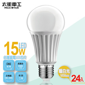 《太星電工》LED燈泡E27/15W/(24入)(暖白光-A615L*24)