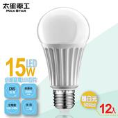 《太星電工》LED燈泡E27/15W/(12入)(暖白光-A615L*12)
