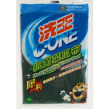 洗王 抗菌菜瓜布(4片裝*15包)