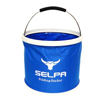 韓國 SELPA 韓國 Selpa 萬用摺疊水桶 11 公升容量-藍色(個)