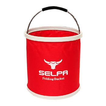 韓國 SELPA 韓國 Selpa 萬用摺疊水桶 11 公升容量-紅色(個)