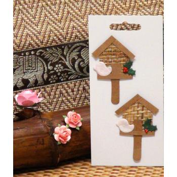 Ploylin 藝術紙花 布穀鳥的家(2朵/組)