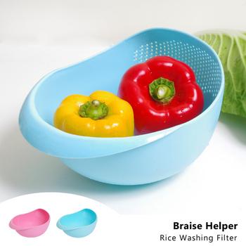 蒸幫手 BRAISE HELPER 廚房創意洗米器 濾水篩 瀝水籃(18cm)顏色隨機(3入)