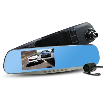 《CARSCAM》行走天下 CR05 雙鏡頭後視鏡行車記錄器(贈8G記憶卡)