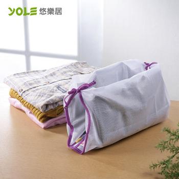 《YOLE悠樂居》綁帶襯衫洗衣袋#1229009(4入)
