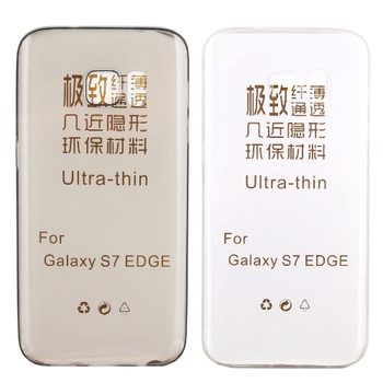 【KooPin力宏】Samsung Galaxy S7 edge 5.5吋 極薄隱形保護套/清水套(透明黑)