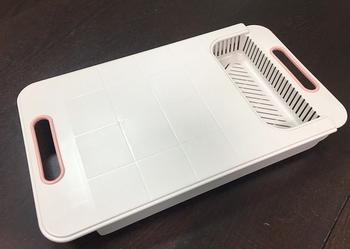 《台灣製》伸縮調理砧板二合一 砧板 瀝水籃