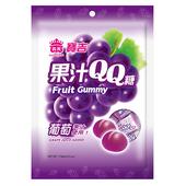 《義美》寶吉果汁QQ糖(葡萄)(176g/包)