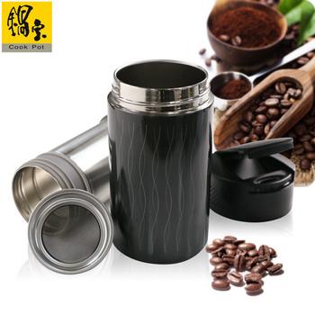鍋寶 #304不鏽鋼咖啡萃取杯贈送咖啡粉1包(四色可選)(EO-SVC0465BLCFB100)