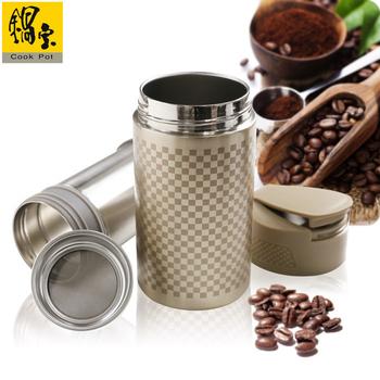 鍋寶 #304不鏽鋼咖啡萃取杯贈送咖啡粉1包(EO-SVC0465GKCFB100)