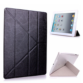 Apple iPad 2/3/4 Y折式側翻皮套(附保貼)(黑色)