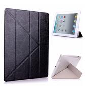 Apple iPad mini3/mini2/mini Y折式側翻皮套(金)附保貼(黑色)