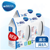 《德國BRITA》Fill&Go隨身濾水瓶專用濾芯片( Filter Disc濾心片)【九片裝】