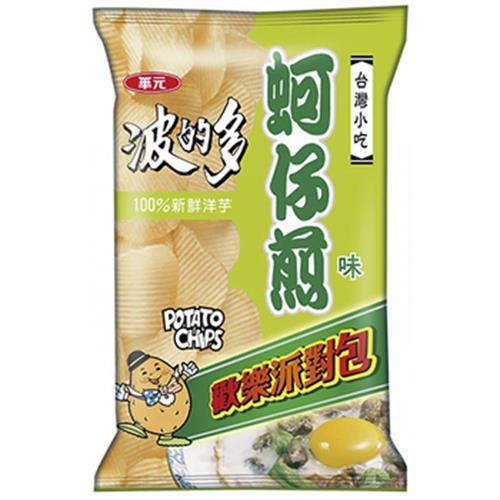 波的多 洋芋片派對包-蚵仔煎味(162g/包)