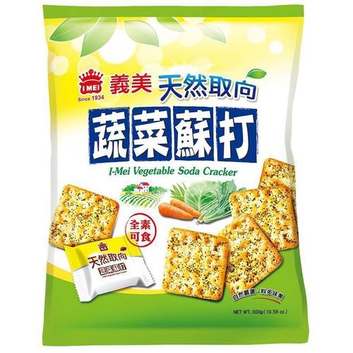 《義美》天然取向蘇打餅乾(蔬菜)袋裝(300g/袋)