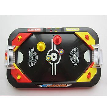 雙人曲棍球足球兩用遊戲機台(一盒)