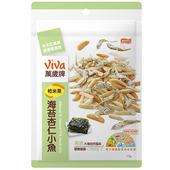 《萬歲牌》柿米果海苔杏仁小魚(113g)