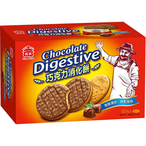 義美 巧克力消化餅(260g/盒)