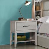 《Homelike》波琳床頭櫃(白雪松)
