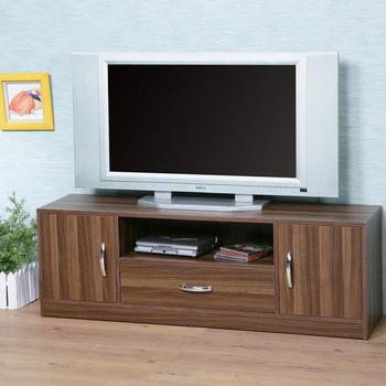 《Homelike》清新森林電視櫃(淺胡桃色)