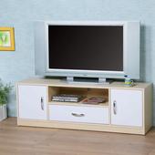 《Homelike》清新森林電視櫃(楓木+白色)