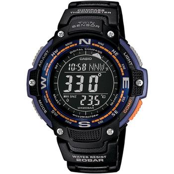 CASIO SPORTS 極限武士數位羅盤運動錶(藍) SGW-100-2B