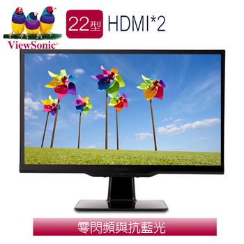 ViewSonic優派 VX2263SMHL 22型 IPS 寬液晶螢幕 (鋼琴黑)