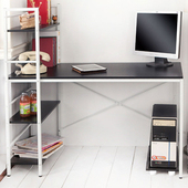 《澄境》經典加寬60cm雙向層架電腦工作桌(經典黑)