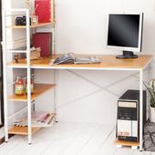 《澄境》經典加寬60cm雙向層架電腦工作桌(櫸木紋)