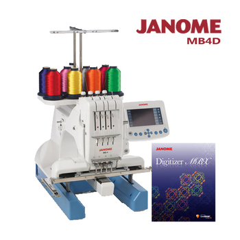 《日本車樂美JANOME》買一送一↘MB-4職業刺繡機加送刺繡軟體組合(MB4D)(MB4D)買大送大  再下殺9折↓贈送價值$98800刺繡軟體