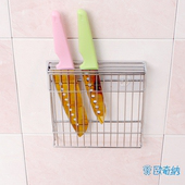 《歐奇納 OHKINA》隨手貼系列_廚房菜刀/刀具置物架組(長型勾1入)