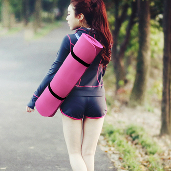 ★結帳現折★ QMAT 雙色POE超厚環保瑜珈墊 100%台灣製造(深藍x雅灰)