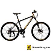 《StepDragon》SMA-1000 MicroSHIFT 30速 鋁合金碟煞登山車(黑金)