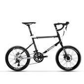 《BIKEDNA》Z7 20吋16速 SHIMANO變速 輕量化鋁合金小徑車(黑白)
