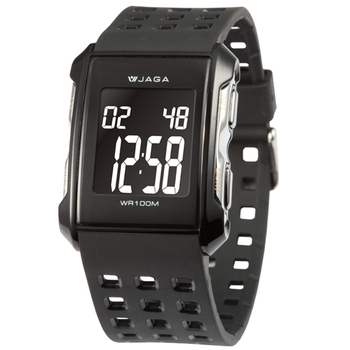 JAGA 捷卡 都會熱活甜心多功能電子錶(黑) M807-A