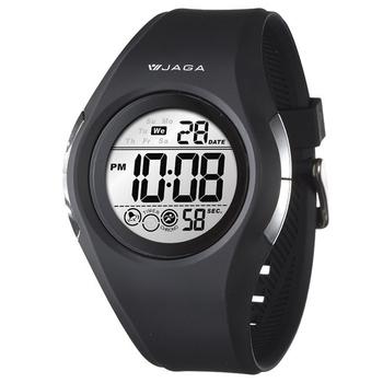 JAGA 捷卡 運動休閒多功能運動電子錶(黑) M984-A