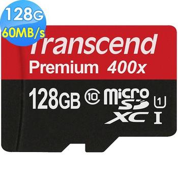 Transcend 創見 128GB microSDXC UHS-I Class10 60MB/s記憶卡(128g)